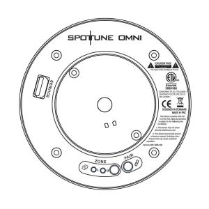 Spottune Omni Cord Streaming Lautsprecher für Deckenbefestigung grau