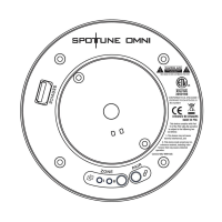 Spottune Omni Cord Streaming Lautsprecher für Deckenbefestigung in weiß