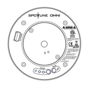 Spottune Omni Track kabelloser Lautsprecher für 3-Phasen-Stromschienen schwarz